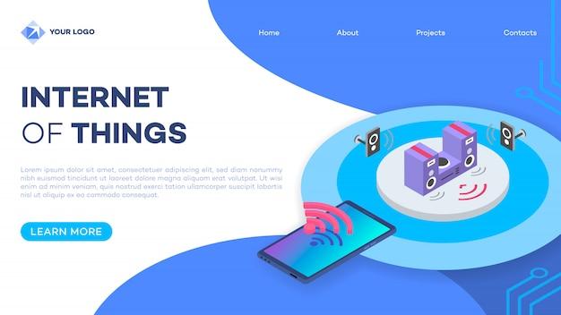 Home page del sistema stereo domestico intelligente