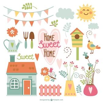 Home sweet home per giardino