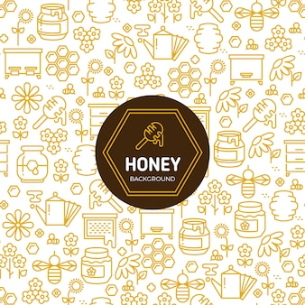 Honey wrapping vector background