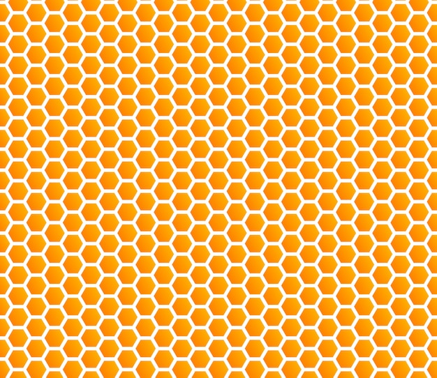 Honeycomb honey seamless pattern