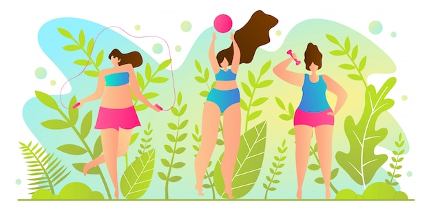 Hot vacation time for girls illustration.