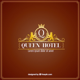 Hotel di lusso logo modello