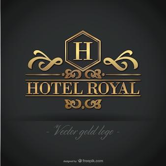 Hotel golden grafica del logo gratis