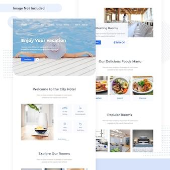 Hotel resort progettazione dell'interfaccia utente e-mail