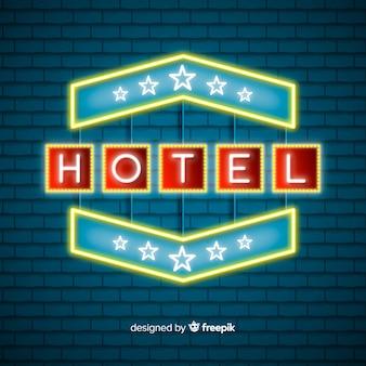 Hotel sfondo al neon