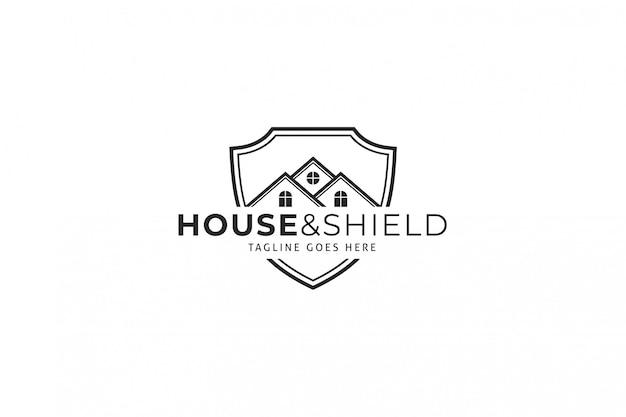 House & shield logotemplate