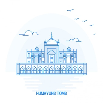 Humayuns tomb blue landmark