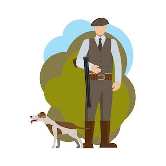 Hunter e il suo cane