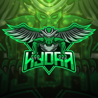 Hydra esport mascotte logo design