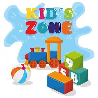I bambini della zona bambini si divertono con i cartoni animati