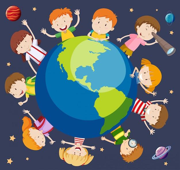 I bambini di tutto il mondo concetto