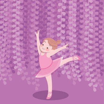 I bambini felici svegli giocano il ballerino di vettore di gioia