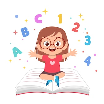 I bambini imparano a leggere l'illustrazione