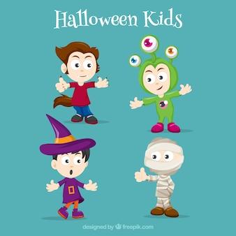 I bambini pronto per halloween
