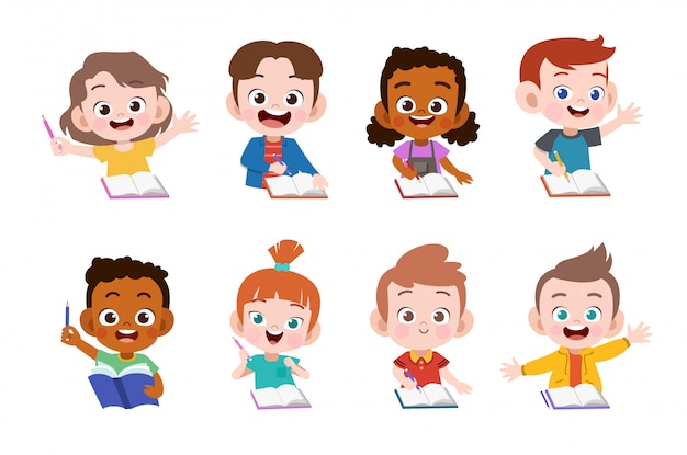 I bambini studiano