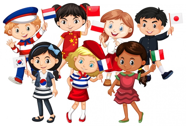I bambini vengono da paesi diversi