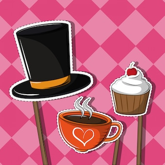 I cartoni animati dei dessert tagliano le linee