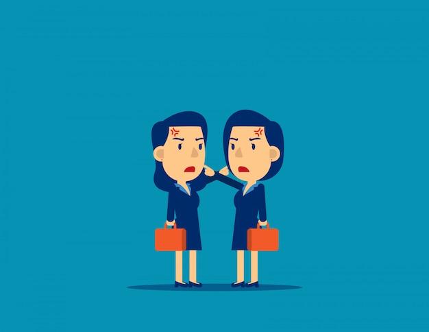 I colleghi litigano