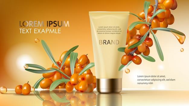 I cosmetici dell'olivello spinoso realistici
