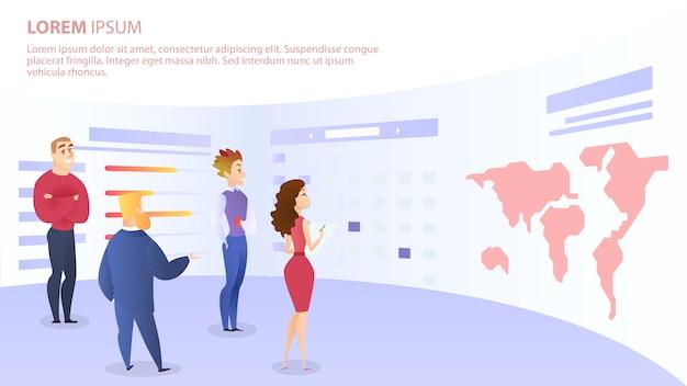 I dipendenti discutono l'idea per lo sviluppo di progetti web
