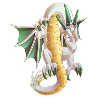 I draghi sono animali fantastici in stile cartone animato.