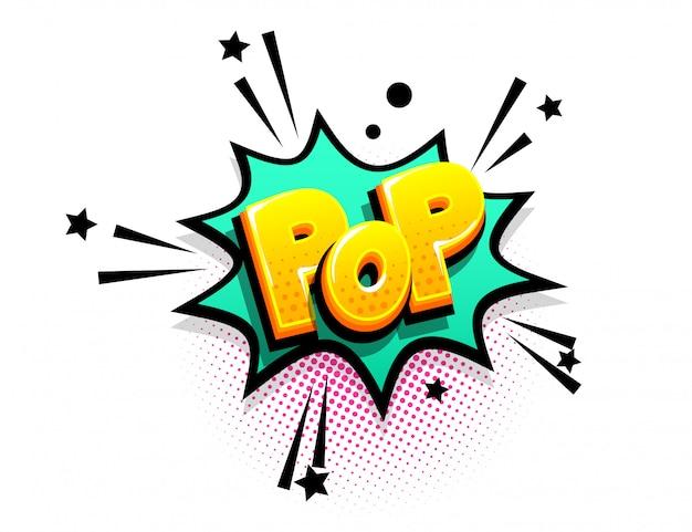 I fumetti pubblicizzano frasi pop art in vendita