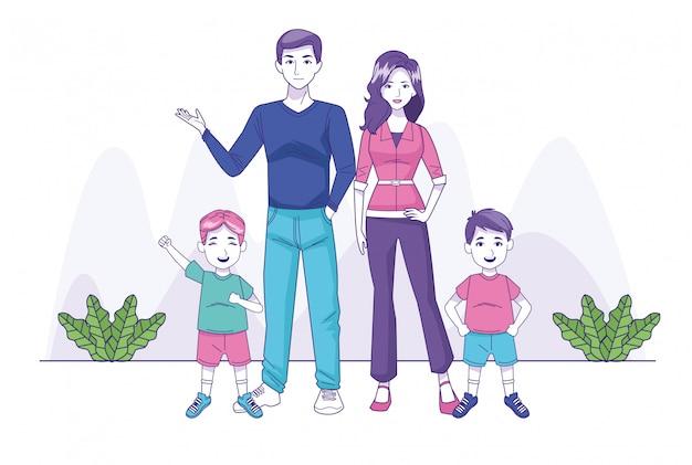 I genitori si accoppiano con i personaggi della famiglia dei figli