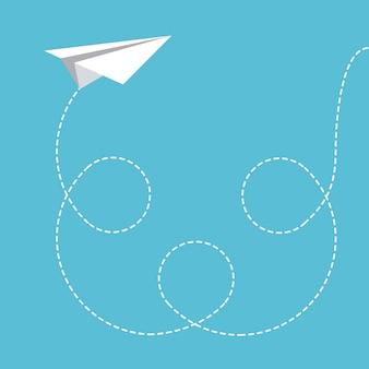 I giocattoli progettano sopra l'illustrazione blu di vettore del fondo