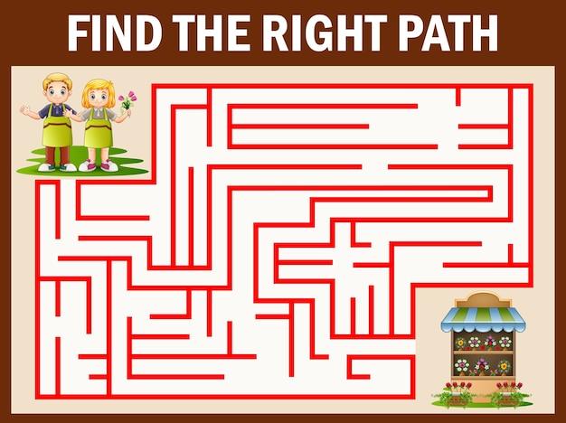 I giochi di labirinti trovano la loro strada per il negozio di fiori