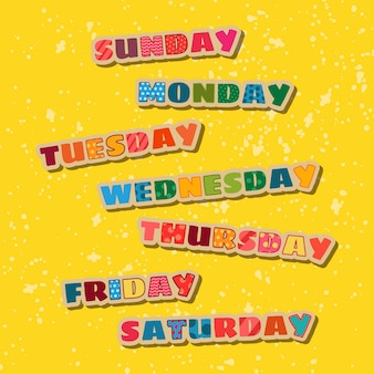 I giorni della settimana confezione
