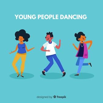 I giovani ballano. design del personaggio