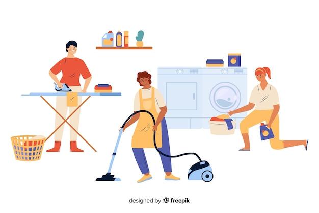 I giovani fanno i lavori domestici