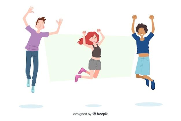 I giovani saltano