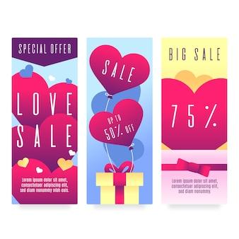 I migliori banner per la vendita di san valentino