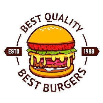 I migliori hamburger. hamburger su sfondo bianco.