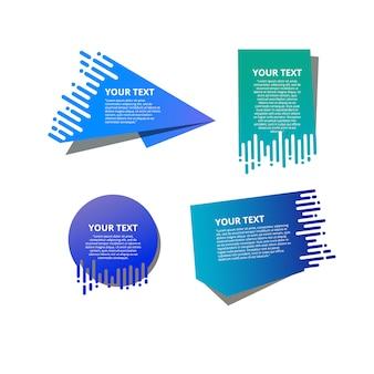 I modelli di testo stile velocizzano gli origami per banner