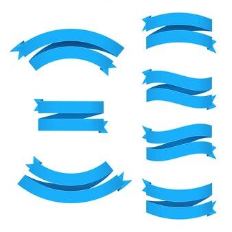 I nastri blu hanno messo con l'illustrazione della maglia di pendenza