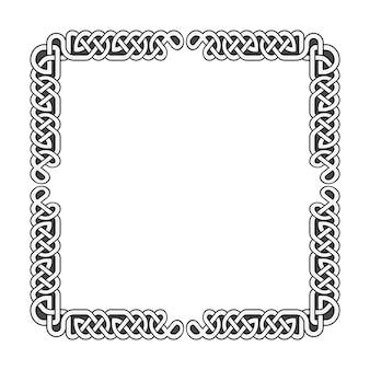 I nodi celtici vector la struttura medievale in bianco e nero