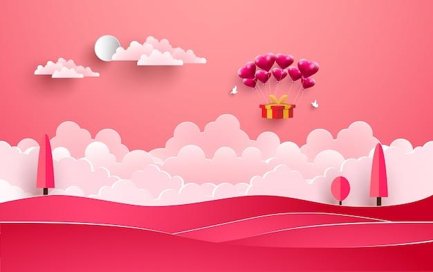 I palloncini portano doni a san valentino