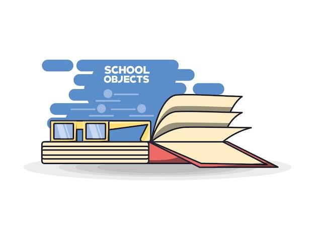 I rifornimenti di scuola prenota il concetto di istruzione