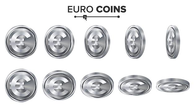 I soldi. euro monete d'argento 3d