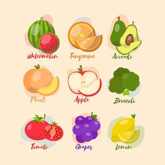 I tipi di sistema immunitario stimolano frutta e verdura