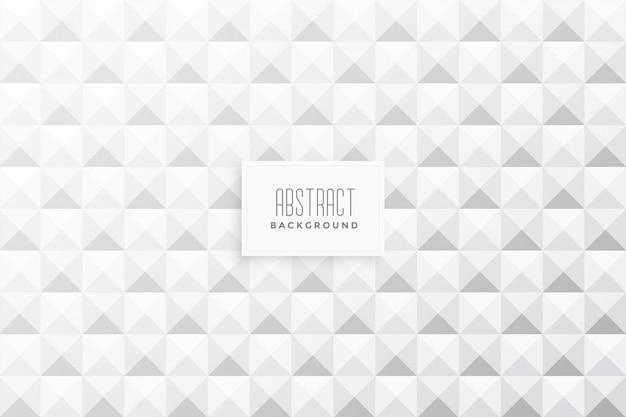 I triangoli astratti 3d modellano il fondo bianco