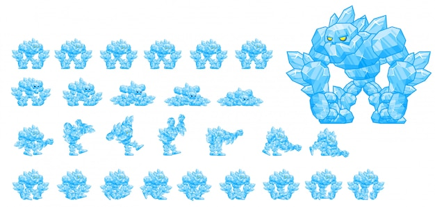 Ice golem game sprites