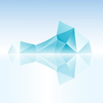 Iceberg astratto fatto con triangolo