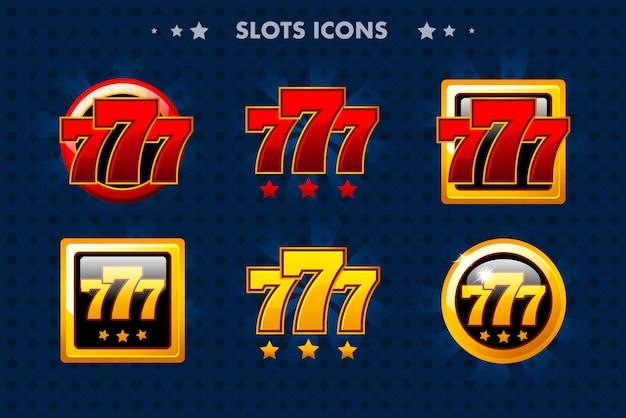 Icona app slot, oggetti lucidi per gioco asset e gametwist