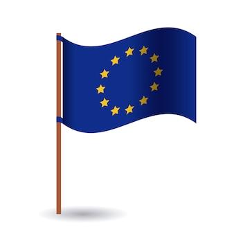 Icona bandiera dell'unione europea. tema della nazione e del governo in europa. design colorato illustrazione vettoriale