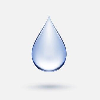 Icona blu goccia d'acqua isolata