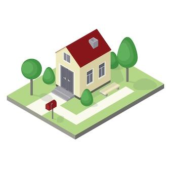 Icona casa isometrica