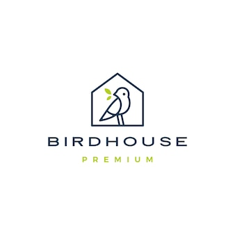 Icona con il logo della casa dell'uccello